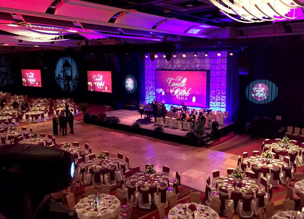 event production for gala in Augusta, GA