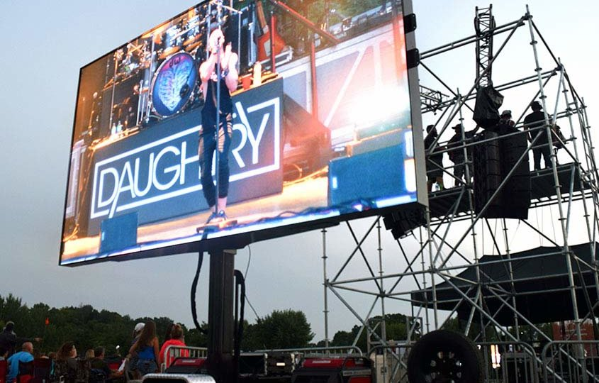 mobile led display at Daughtry concert