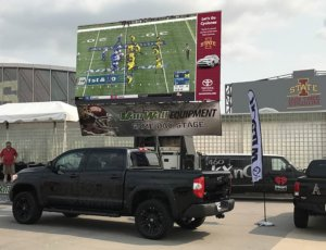 MAX LED display at college football tailgate
